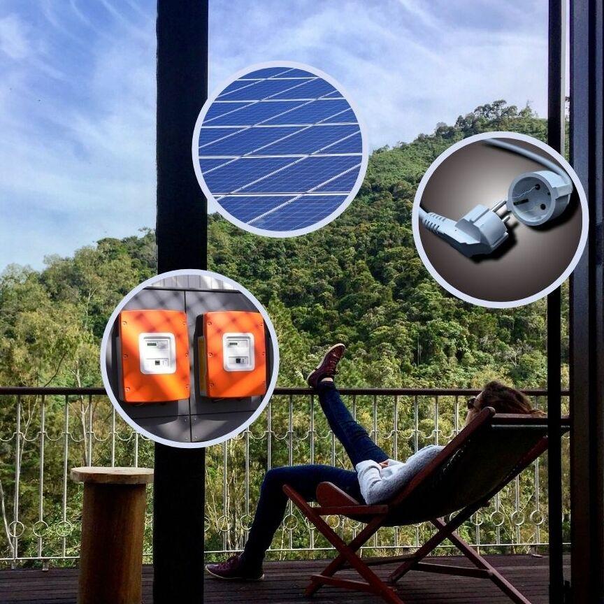 Balkon Solaranlage Komplettpaket
