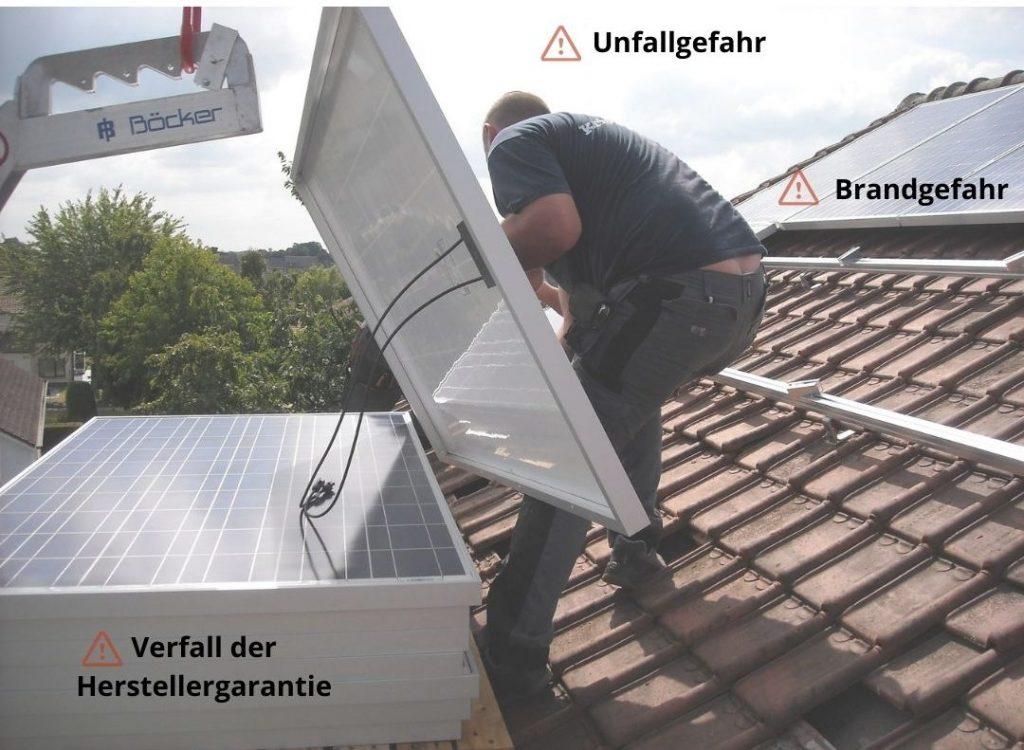 Solaranlage Montage selber