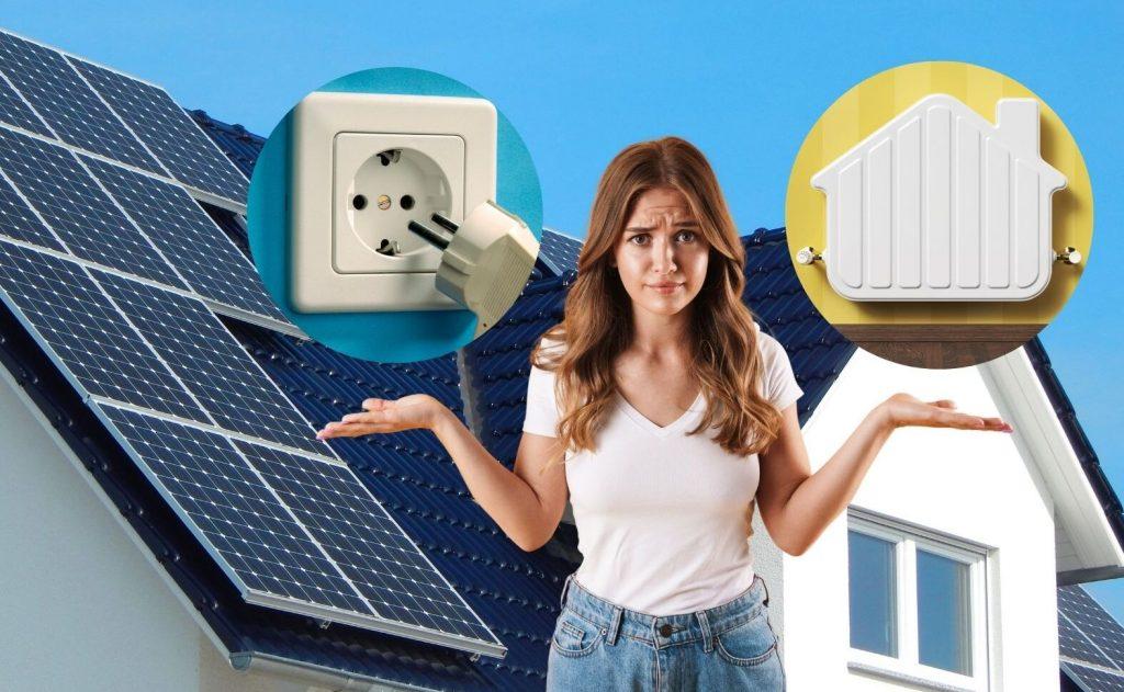 Solaranlage Strom oder Wärme