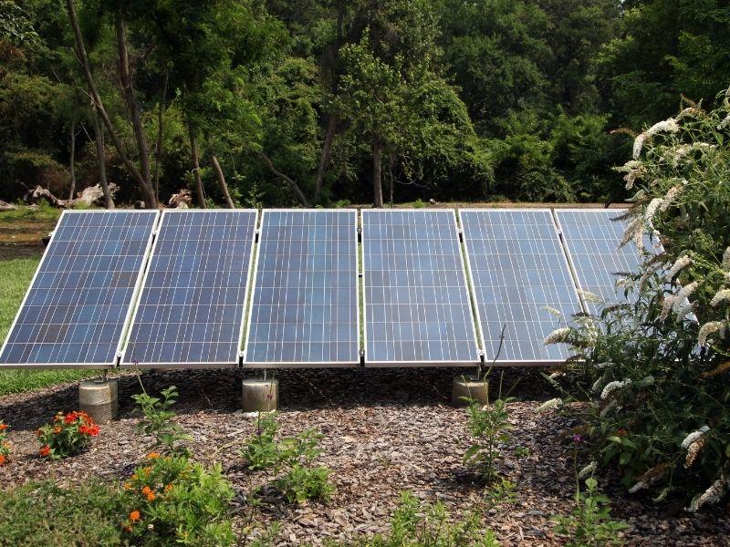 Solaranlage Garten Standort