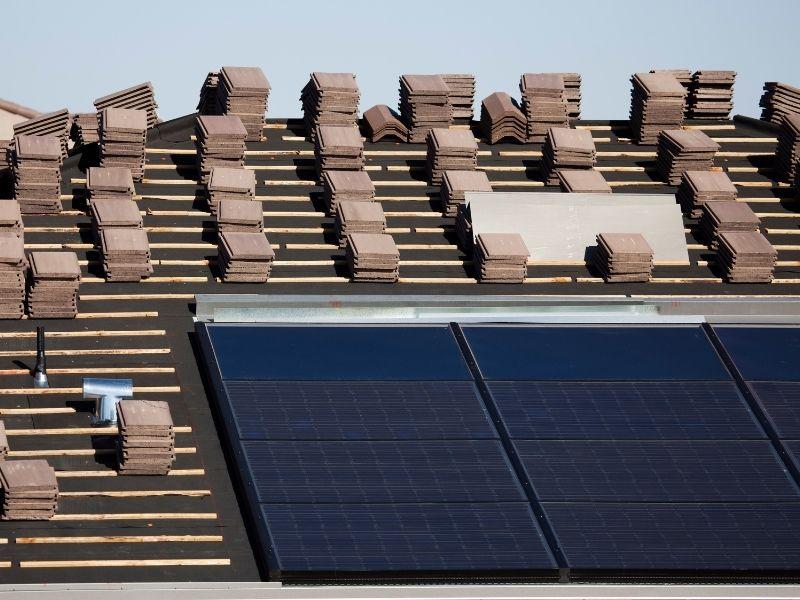 Solaranlage Montage Indach
