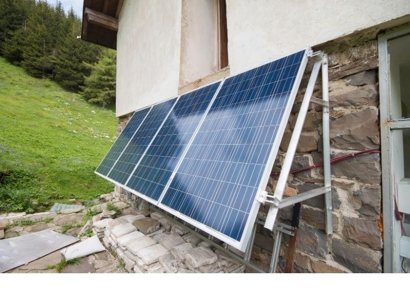 Solaranlage für Garten Fassade