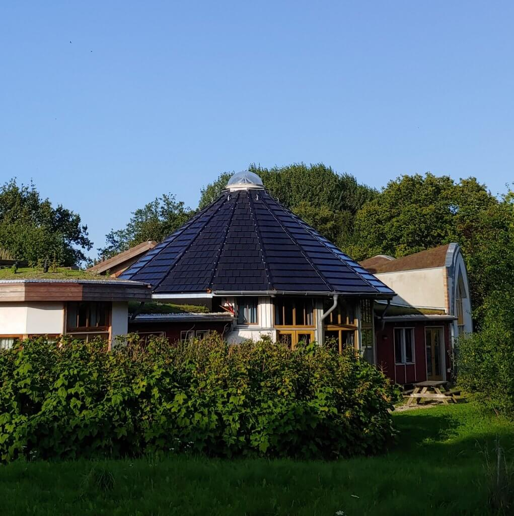 Solardachziegel Kegeldach